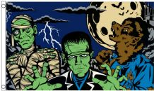 Halloween Monsters 5'x3' (150cm x 90cm)  Flag